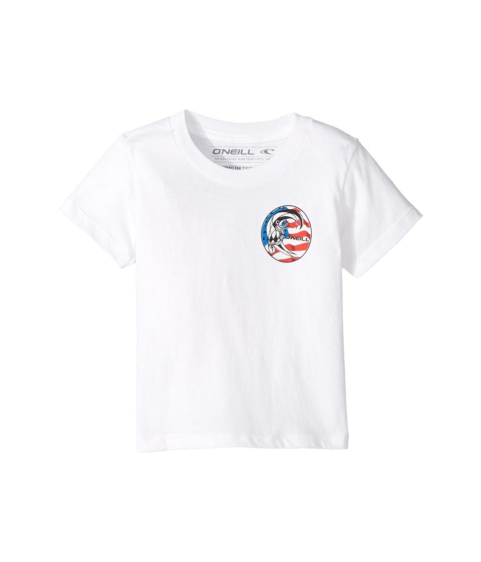 O'Neill Kids - New Glory Screen Short Sleeve Tee (Toddler/Little Kids) (White) Boy's T Shirt