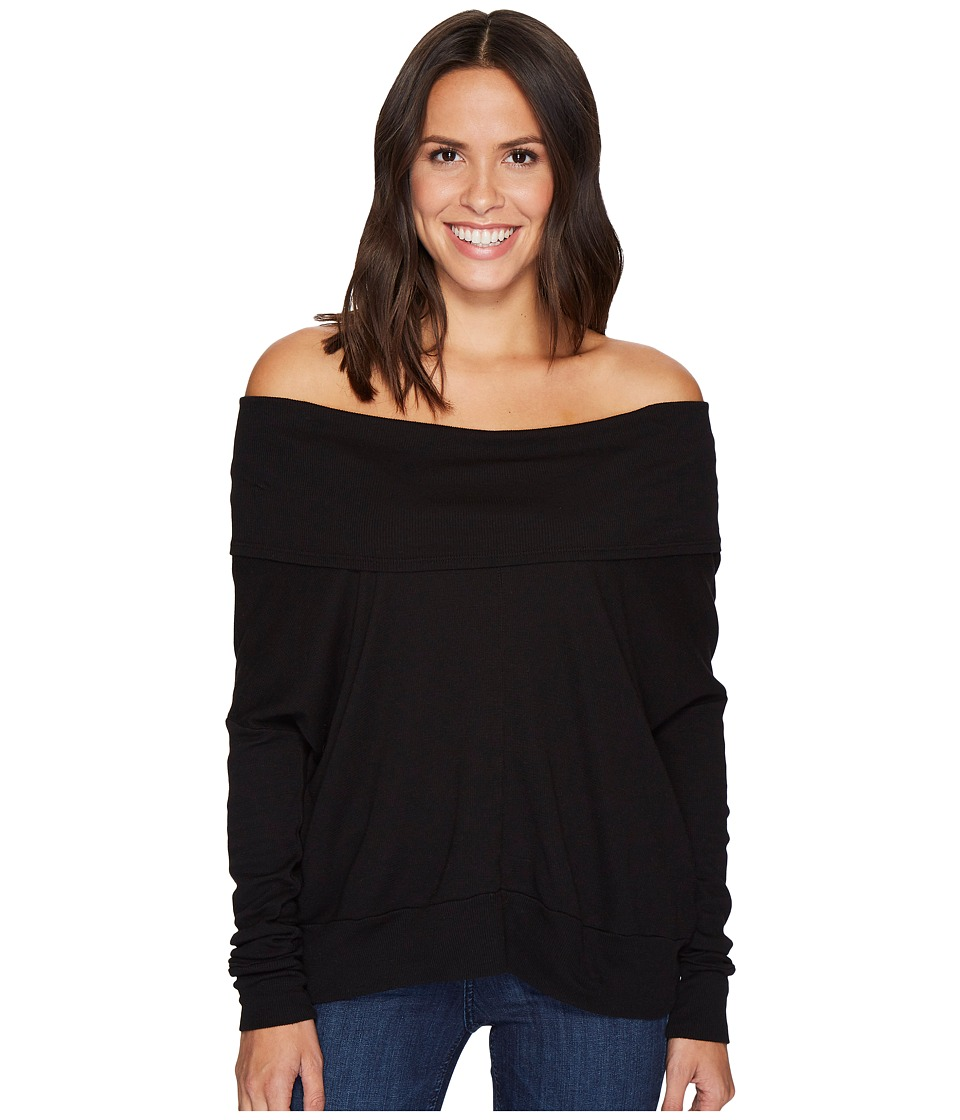 LAmade - Rembrandt Off the Shoulder Boxy Top (Black) Women's Long Sleeve Pullover