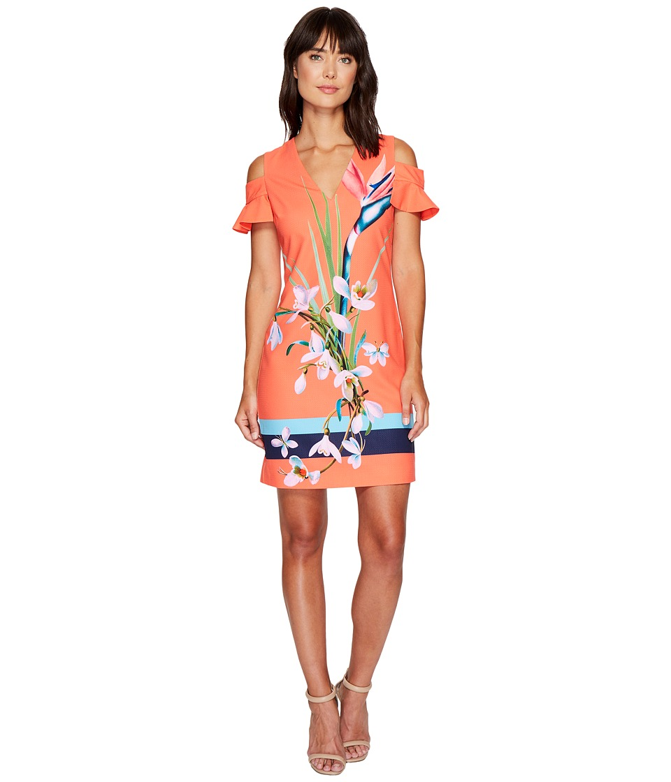 Ted Baker - Leea Tropical Oasis Cut Out Tunic (Mid Red) Women's Blouse