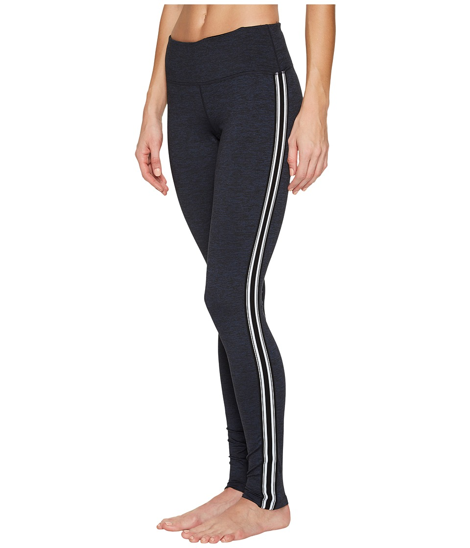 Spiritual Gangster - Athletic Stripe Practice Leggings (Navy) Women's Casual Pants