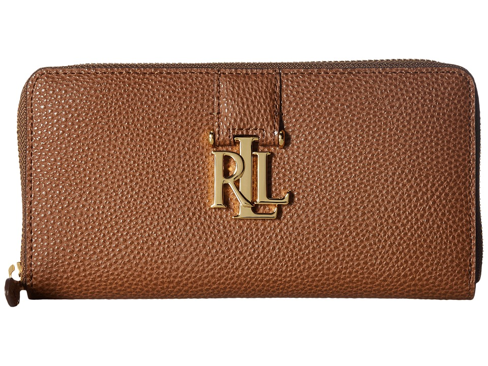 LAUREN Ralph Lauren - Carrington Zip Wallet (Field Brown) Wallet Handbags