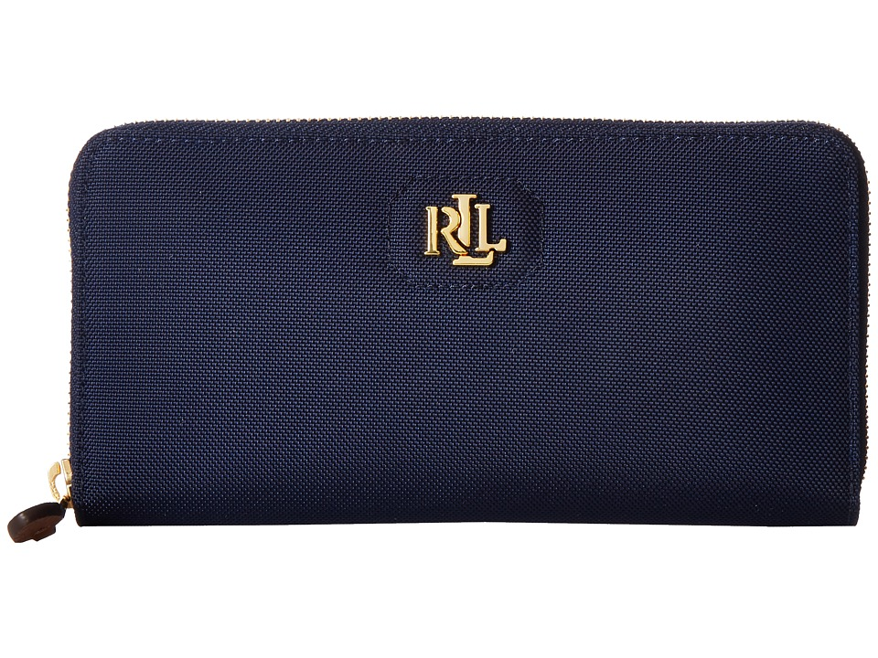 LAUREN Ralph Lauren - Bainbridge Zip Wallet (Navy) Wallet Handbags
