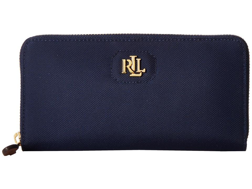 LAUREN Ralph Lauren - Bainbridge Zip Wallet (Navy) Wallet Handbags