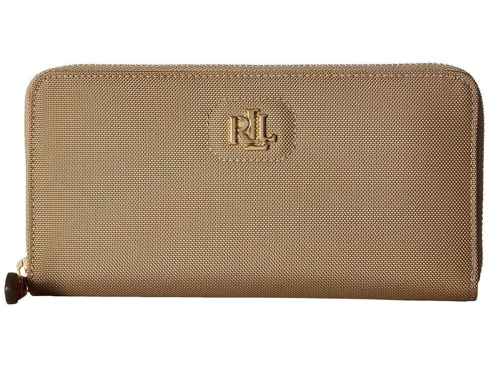 LAUREN Ralph Lauren - Bainbridge Zip Wallet (Khaki) Wallet Handbags