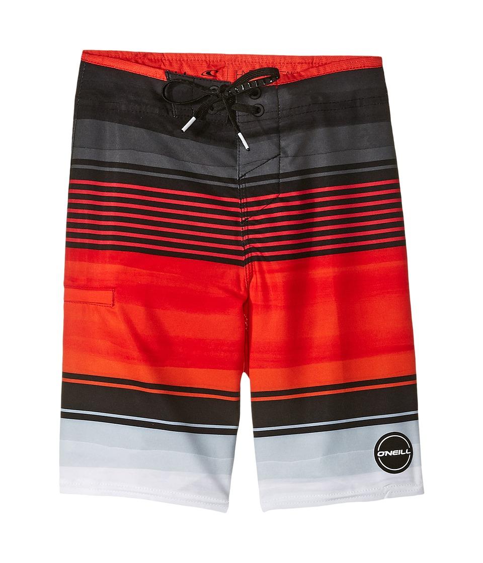 O'Neill Kids - Hyperfreak Heist Boardshorts (Big Kids) (Neon Red 1) Boy's Swimwear