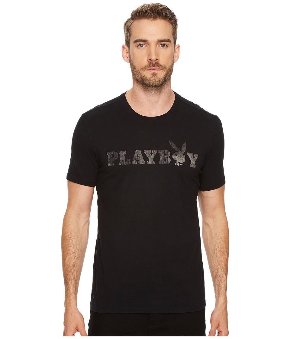 John Varvatos Star U.S.A. - Playboy Graphic Tee (Black) Men's T Shirt