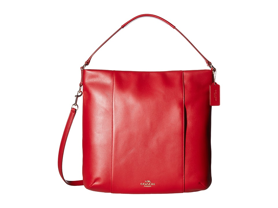 COACH - Leather Isabelle Shoulder Bag (Classic Red) Shoulder Handbags