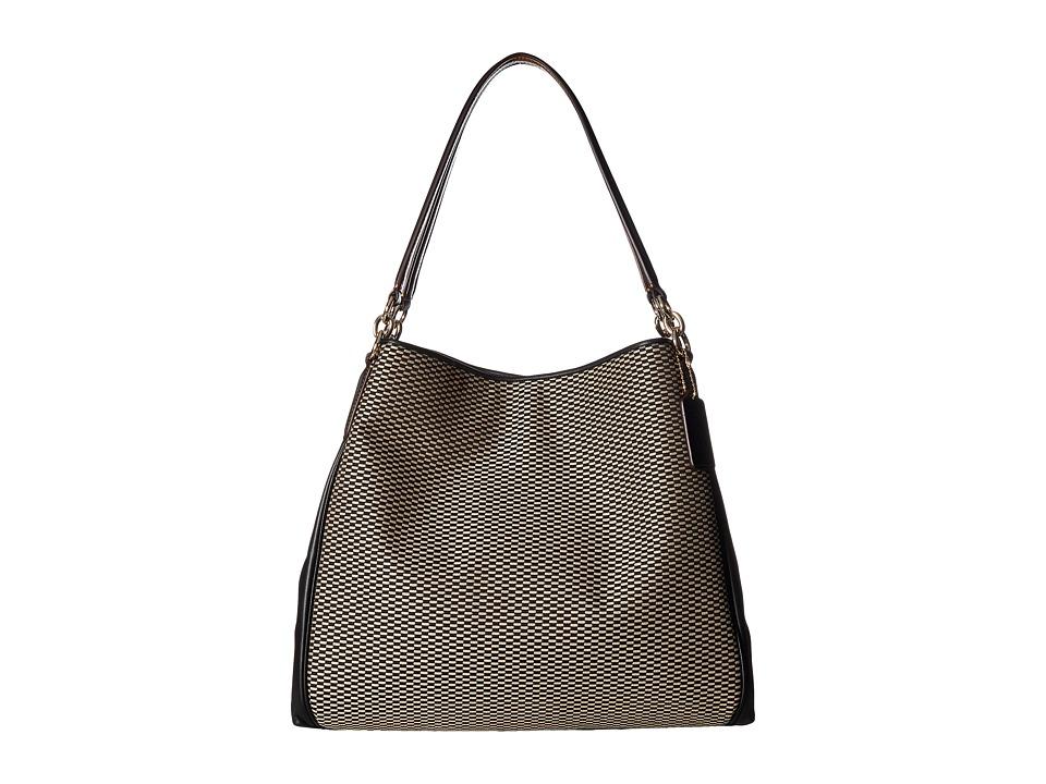 COACH - Exploded Reps Phoebe Shoulder Bag (Milk/Black) Shoulder Handbags