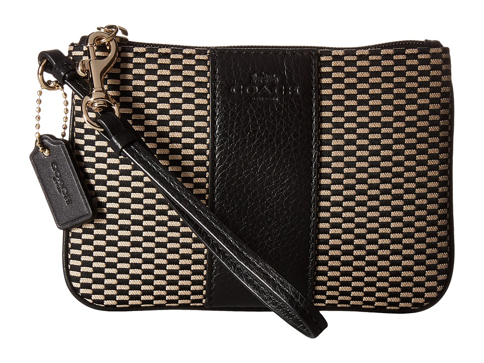 COACH - Exploded Rep Small Wristlet (Milk/Black) Wristlet Handbags