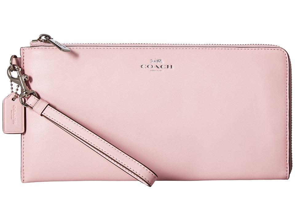 COACH - Darcy Leather Holdall Wallet (Petal) Wallet Handbags