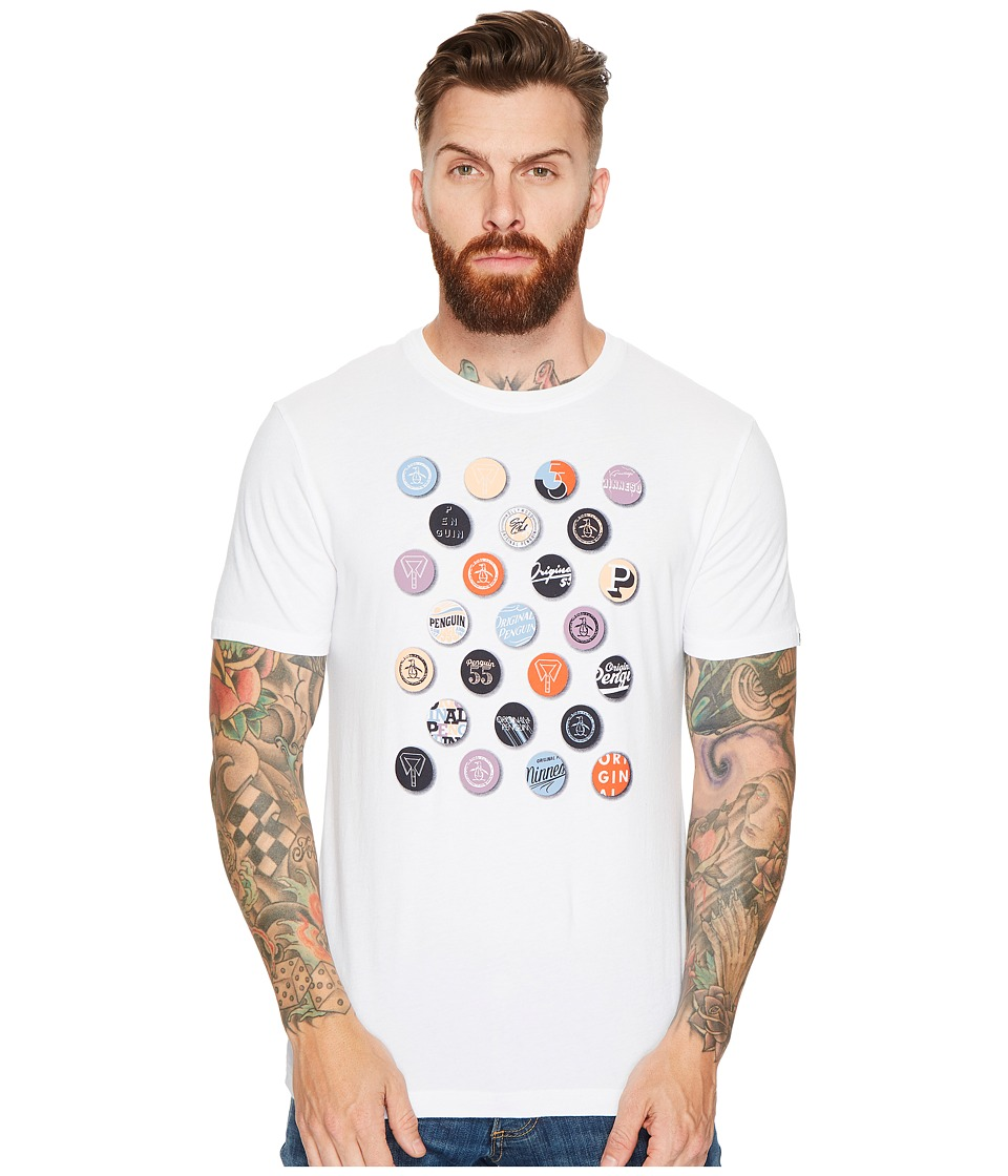 Original Penguin - Badges Tee (Bright White) Men's T Shirt