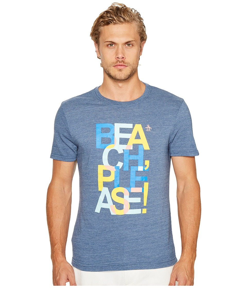 Original Penguin - Beach Please! Tee (Vintage Indigo) Men's T Shirt