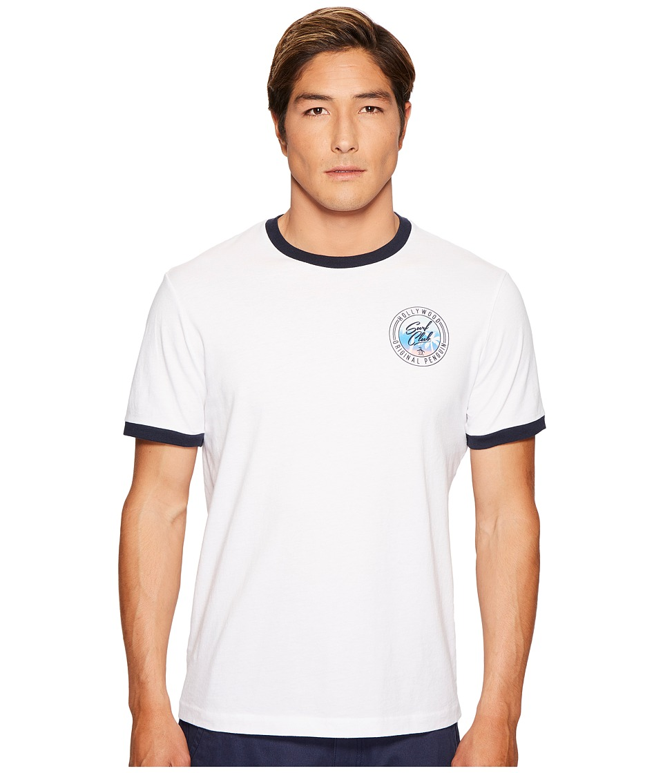 Original Penguin - Hollywood Surf Club Tee (Bright White) Men's T Shirt