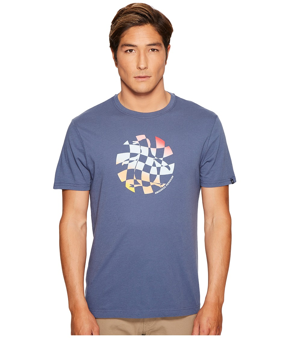 Original Penguin - Checkerboard Pete Tee (Vintage Indigo) Men's T Shirt