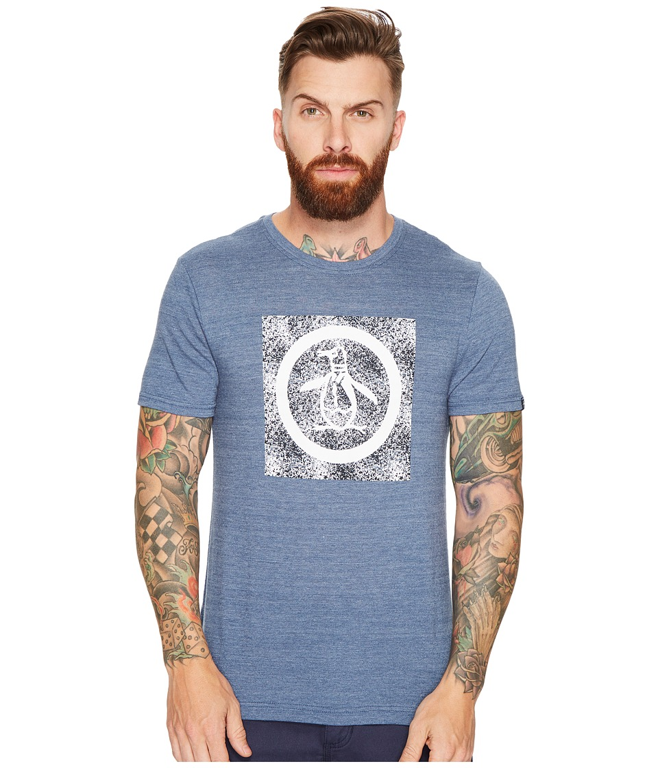 Original Penguin - Splatter Circle Logo Tee (Vintage Indigo) Men's T Shirt