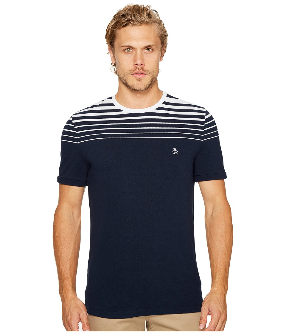 Original Penguin - Gradient Stripe Tee (Dark Sapphire) Men's T Shirt