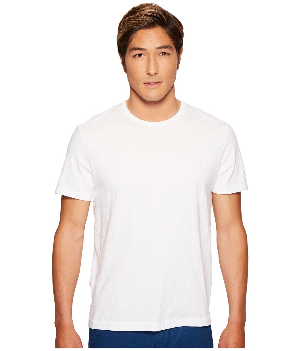 Original Penguin - Slub Logo Tee (Bright White) Men's T Shirt