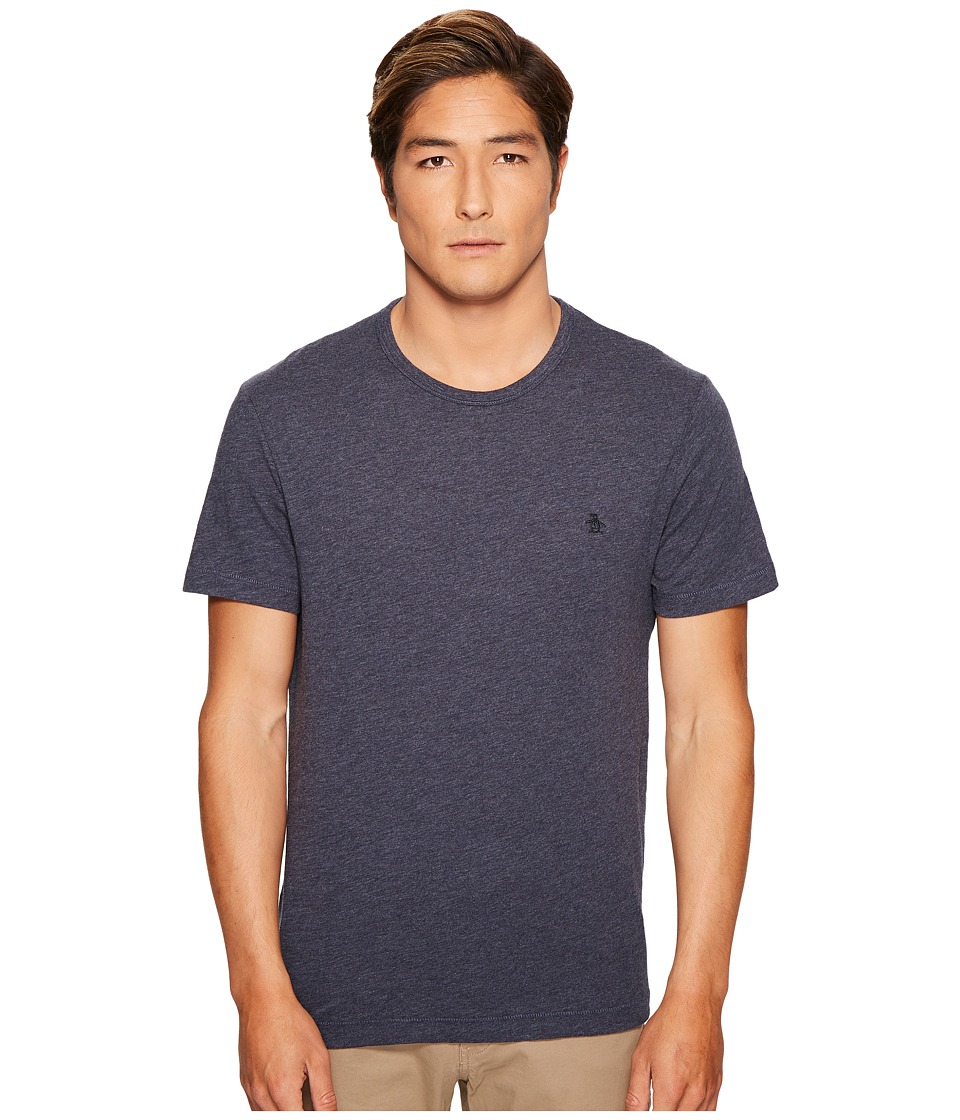 Original Penguin - Slub Logo Tee (Dark Sapphire) Men's T Shirt