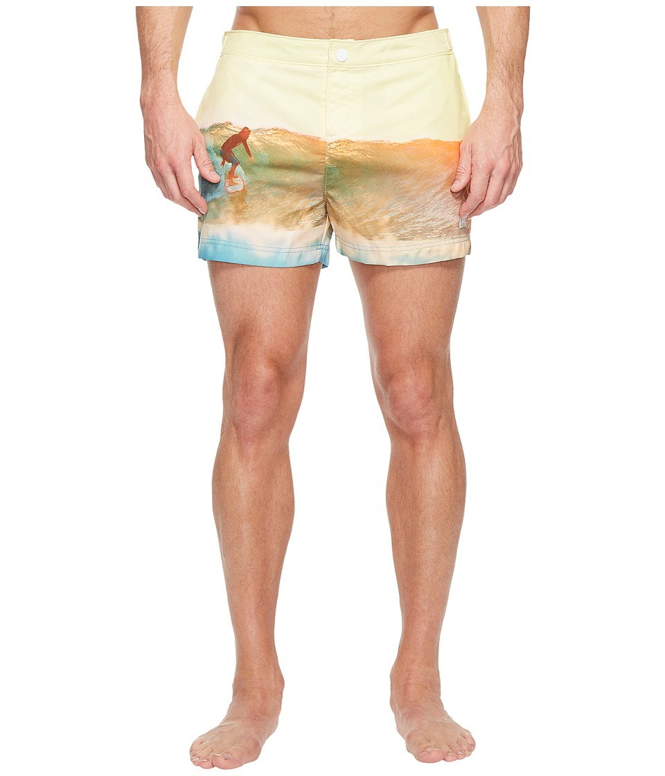 Original Penguin Surfer Fixed Box Volley Swim Trunk (Freesia) Men