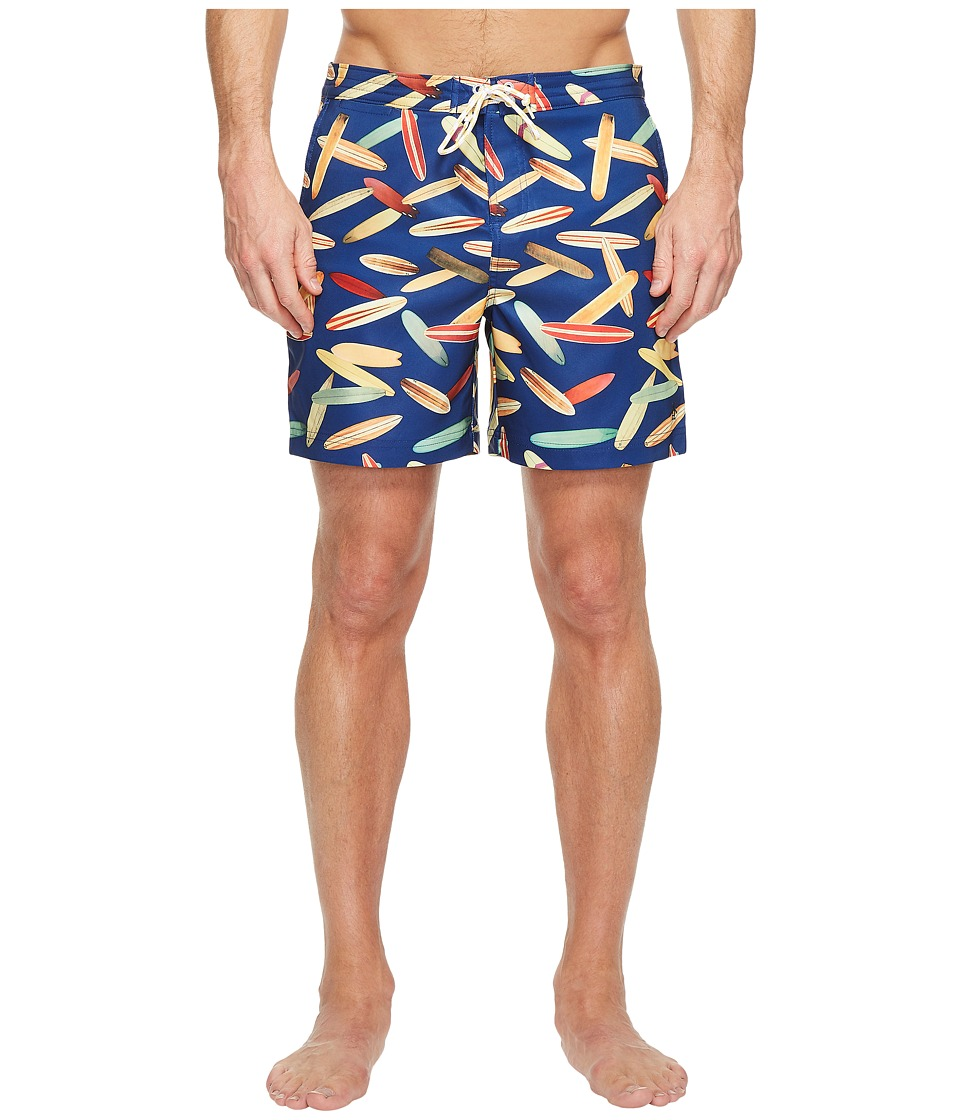 Original Penguin - Surfboard Fixed Volley Swim Trunk (Dark Sapphire) Men's Swimwear