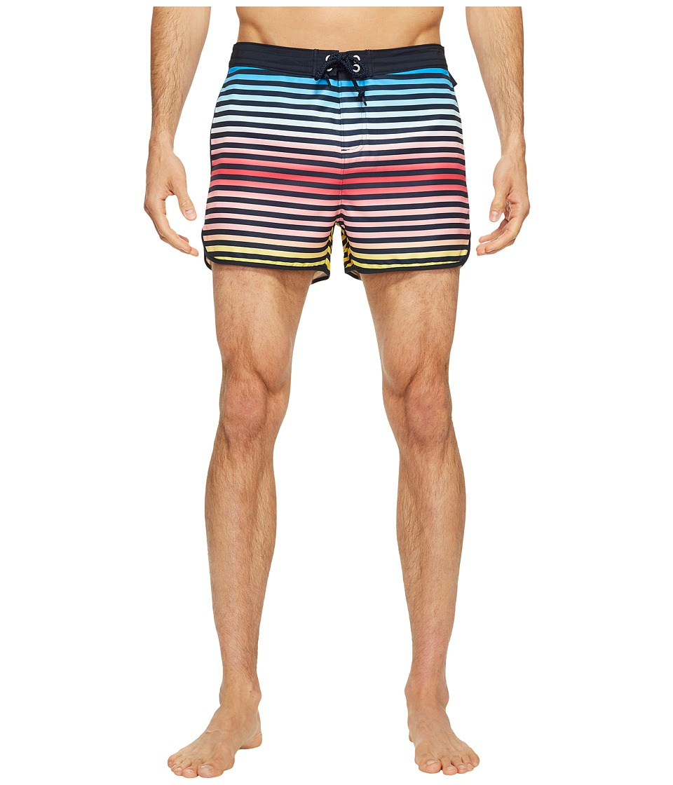 Original Penguin - Ombre Stripe Fixed Volley Swim Trunk (Dark Sapphire) Men's Swimwear