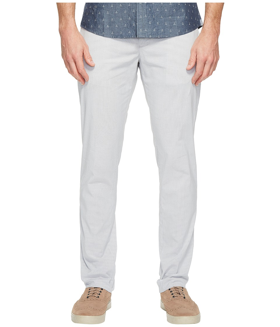 Original Penguin - Stretch Micro Vertical Stripe Tailored Pants (Pearl Blue) Men's Casual Pants