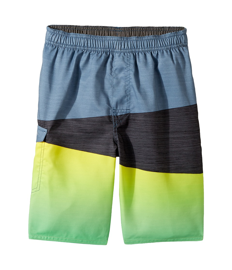 Rip Curl Kids - Wedge Volley Boardshorts (Big Kids) (Blue/Grey) Boy's Swimwear