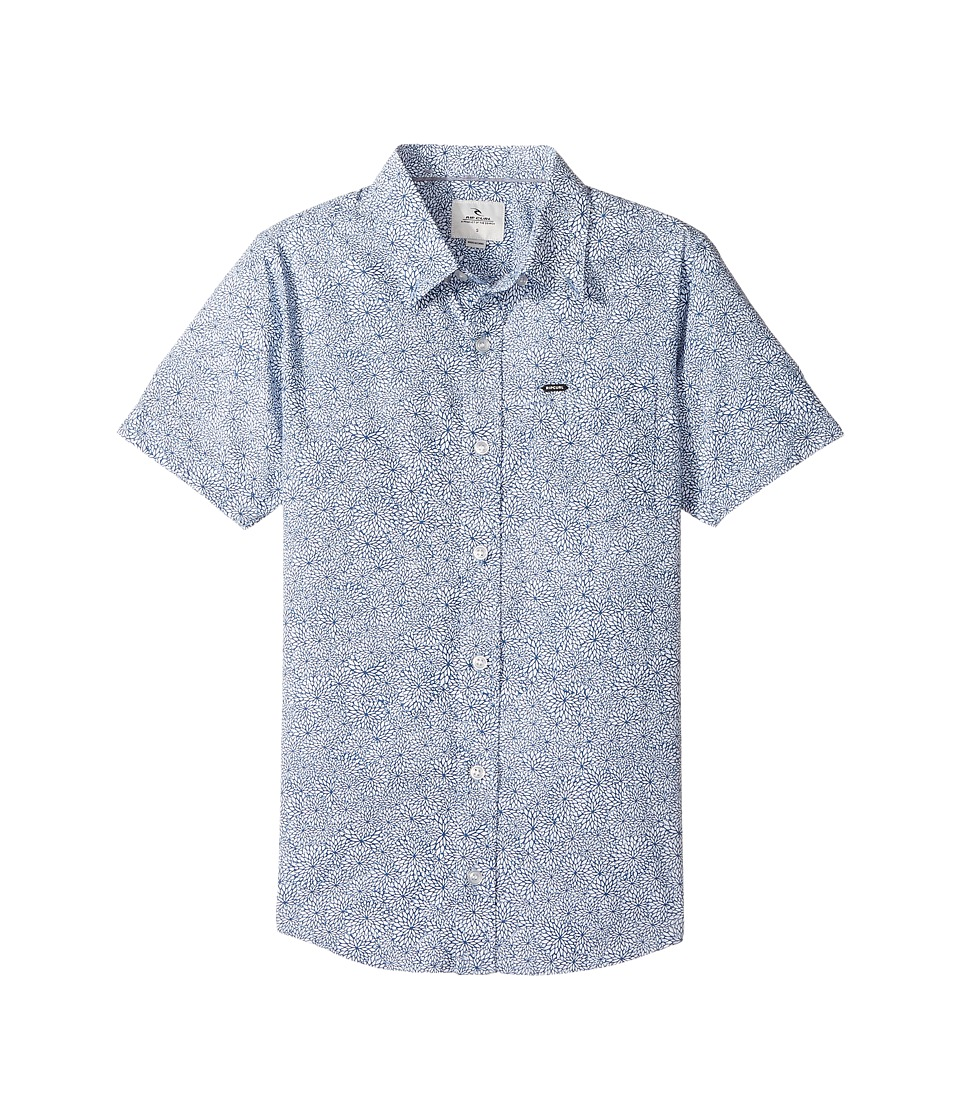 Rip Curl Kids - Seedy Short Sleeve Shirt (Big Kids) (Blue) Boy's T Shirt