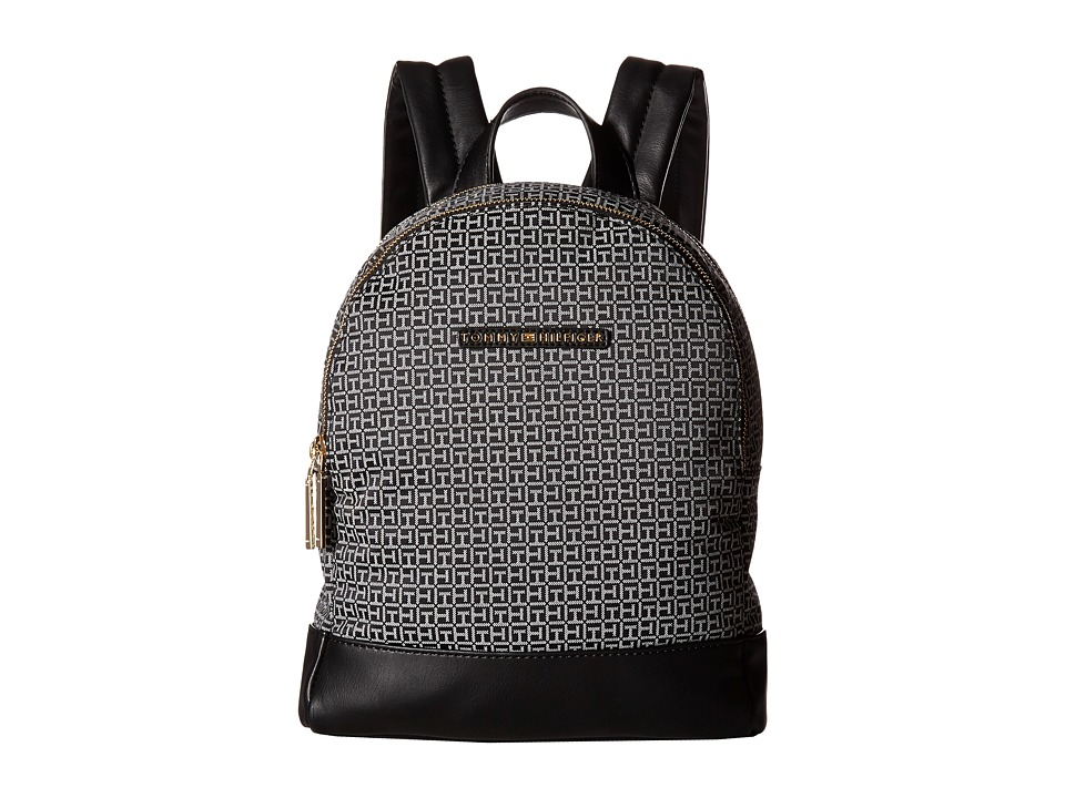 Tommy Hilfiger - Pauletta Mini Backpack (Black/White) Backpack Bags
