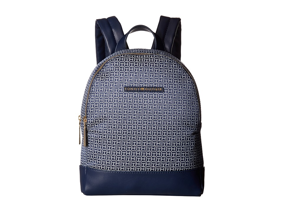 Tommy Hilfiger - Pauletta Mini Backpack (Navy/White) Backpack Bags