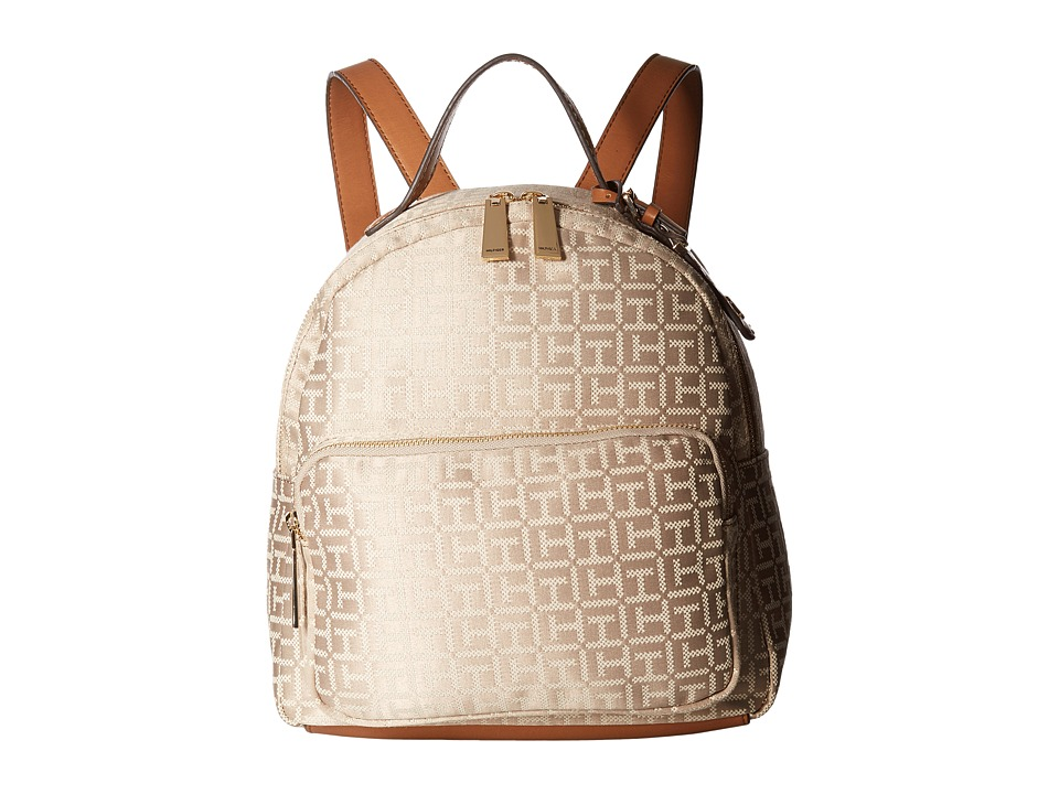 Tommy Hilfiger - Julia Dome Backpack (Khaki Tonal) Backpack Bags