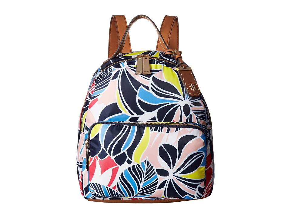 Tommy Hilfiger - Julia Dome Retro Floral Nylon Backpack (Geranium Print/Multi) Backpack Bags