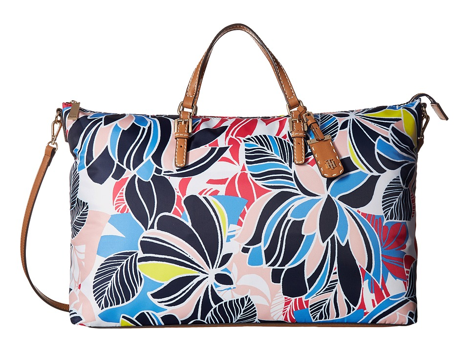 Tommy Hilfiger - Julia Retro Floral Nylon Weekender (Geranium Print/Multi) Weekender/Overnight Luggage