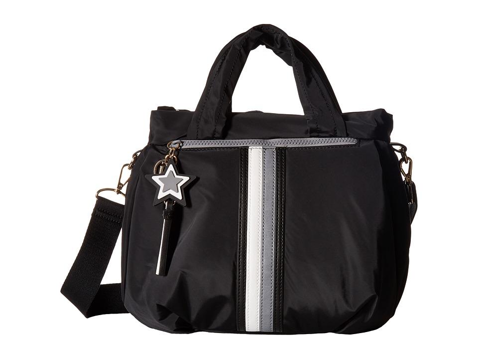 Tommy Hilfiger - Karina Convertible Soft Nylon Shopper (Black) Shoulder Handbags