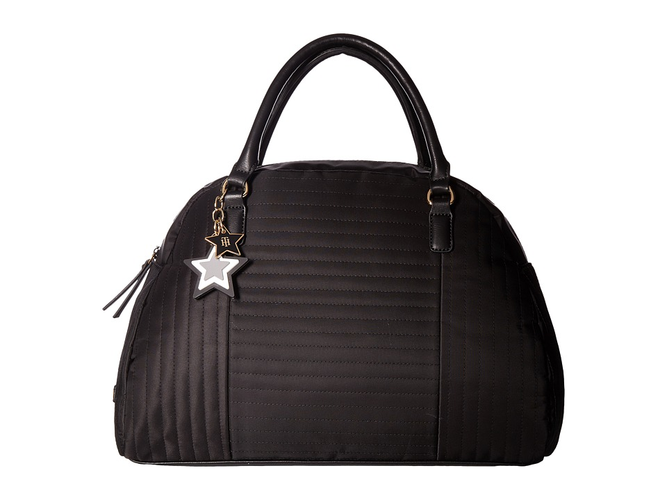 Tommy Hilfiger - Calandra Dome Satchel (Black) Satchel Handbags
