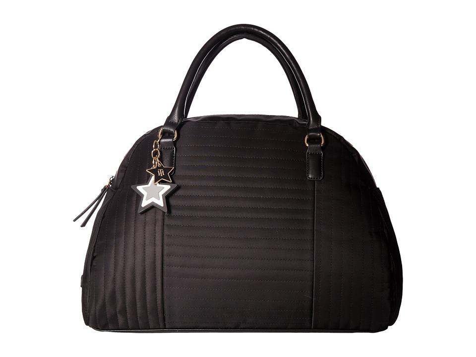 Tommy Hilfiger - Calandra Dome Satchel (Black) Satchel Handbags
