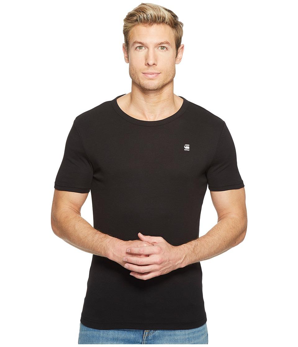G-Star - Daplin R T Short Sleeve Cool Rib (Black) Men's Short Sleeve Pullover