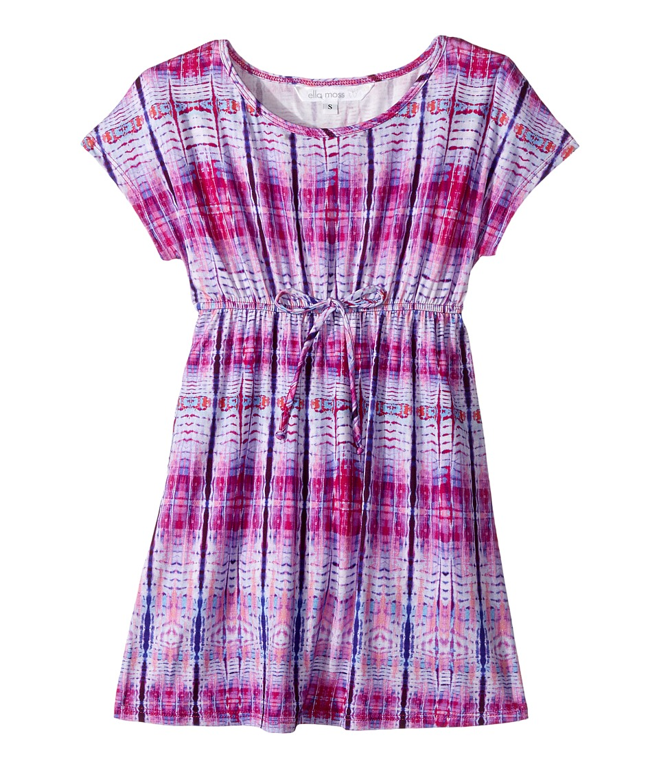 Ella Moss Girl - Printed Tunic Cover-Up (Big Kids) (Purple) Girl's Swimwear