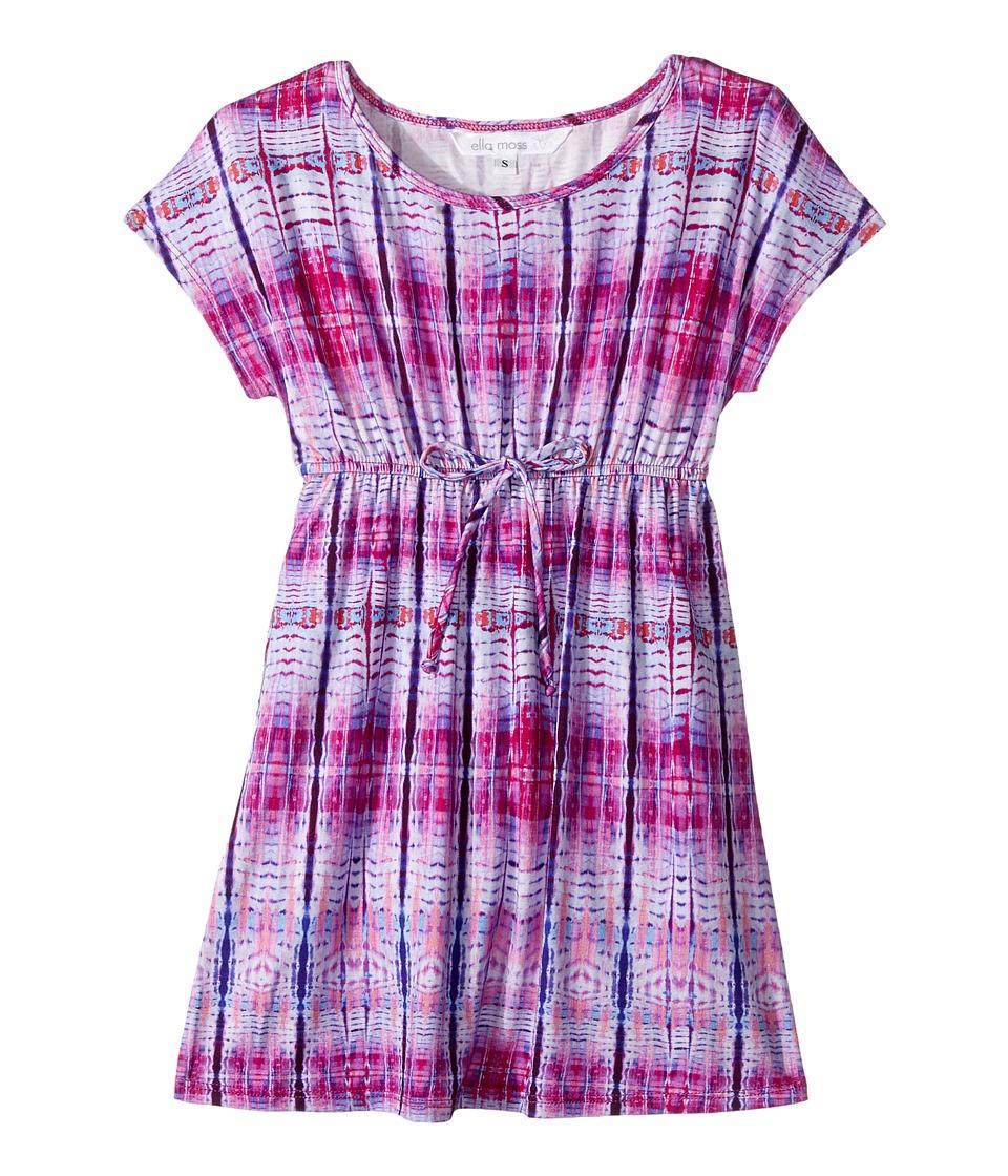 Ella Moss Girl - Printed Tunic Cover-Up (Big Kids) (Purple) Girl's Swimwear