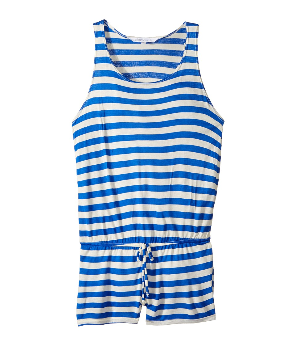 Ella Moss Girl - Printed Romper Cover-Up (Big Kids) (Blue) Girl's Swimsuits One Piece