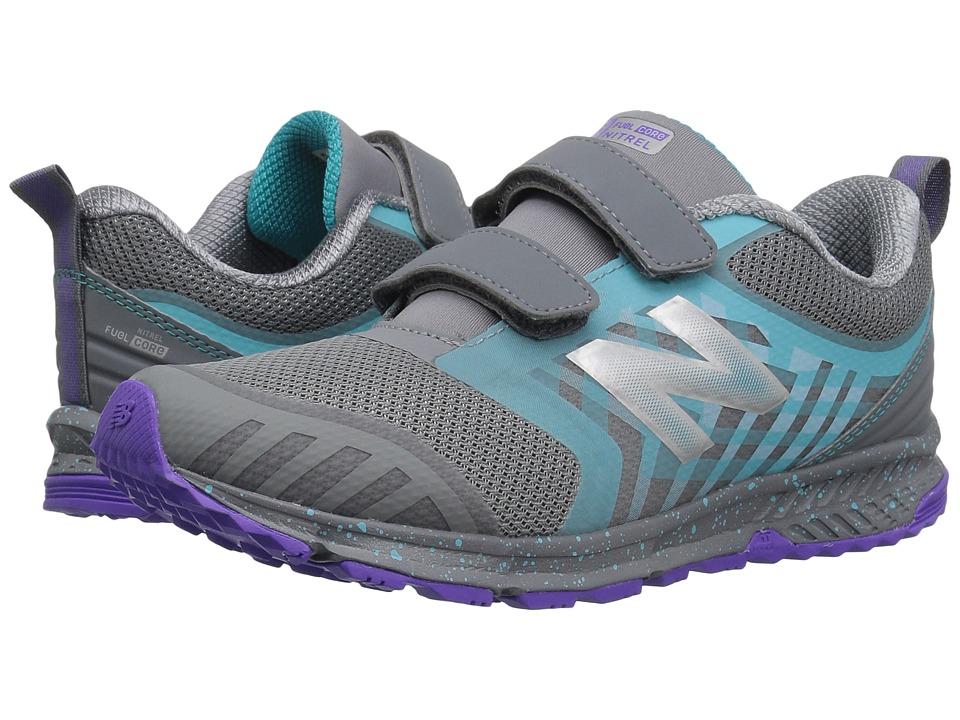 New Balance Kids KENTRv3Y (Little Kid/Big Kid) (Grey/Pisces) Girls Shoes