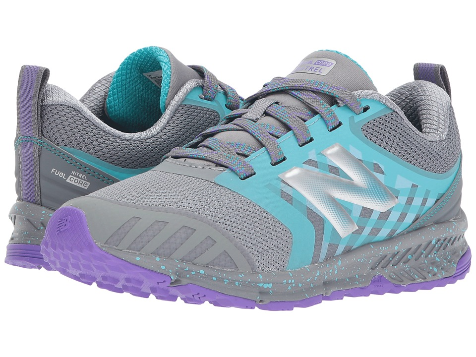 New Balance Kids FuelCore NITREL (Little Kid/Big Kid) (Grey/Pisces) Girls Shoes