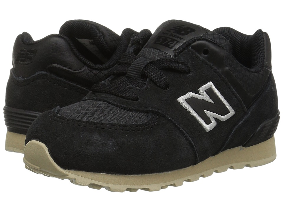 New Balance Kids KL574v1I (Infant/Toddler) (Black/Tan) Boys Shoes