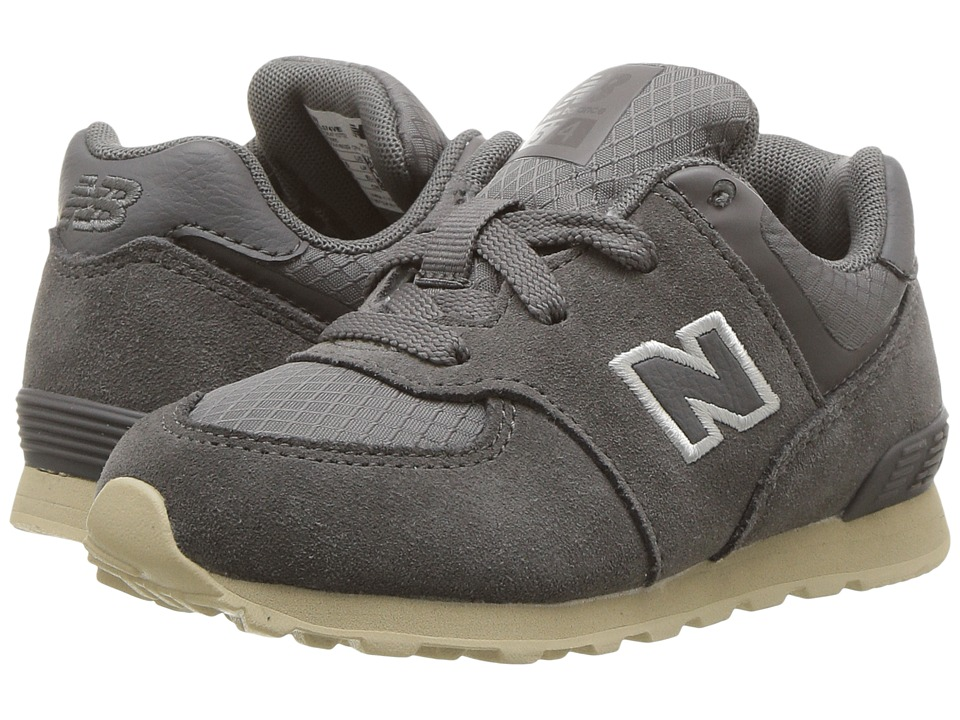 New Balance Kids KL574v1I (Infant/Toddler) (Grey/Tan) Boys Shoes