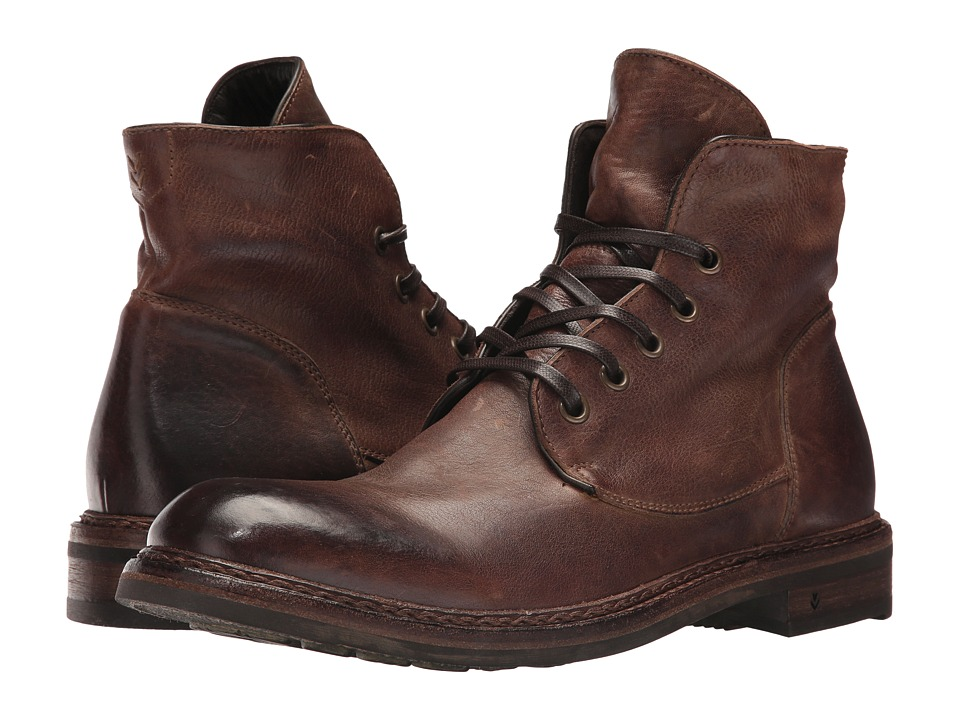 John Varvatos - Collection Ellis Lace Boot (Dark Brown) Men's Lace-up Boots