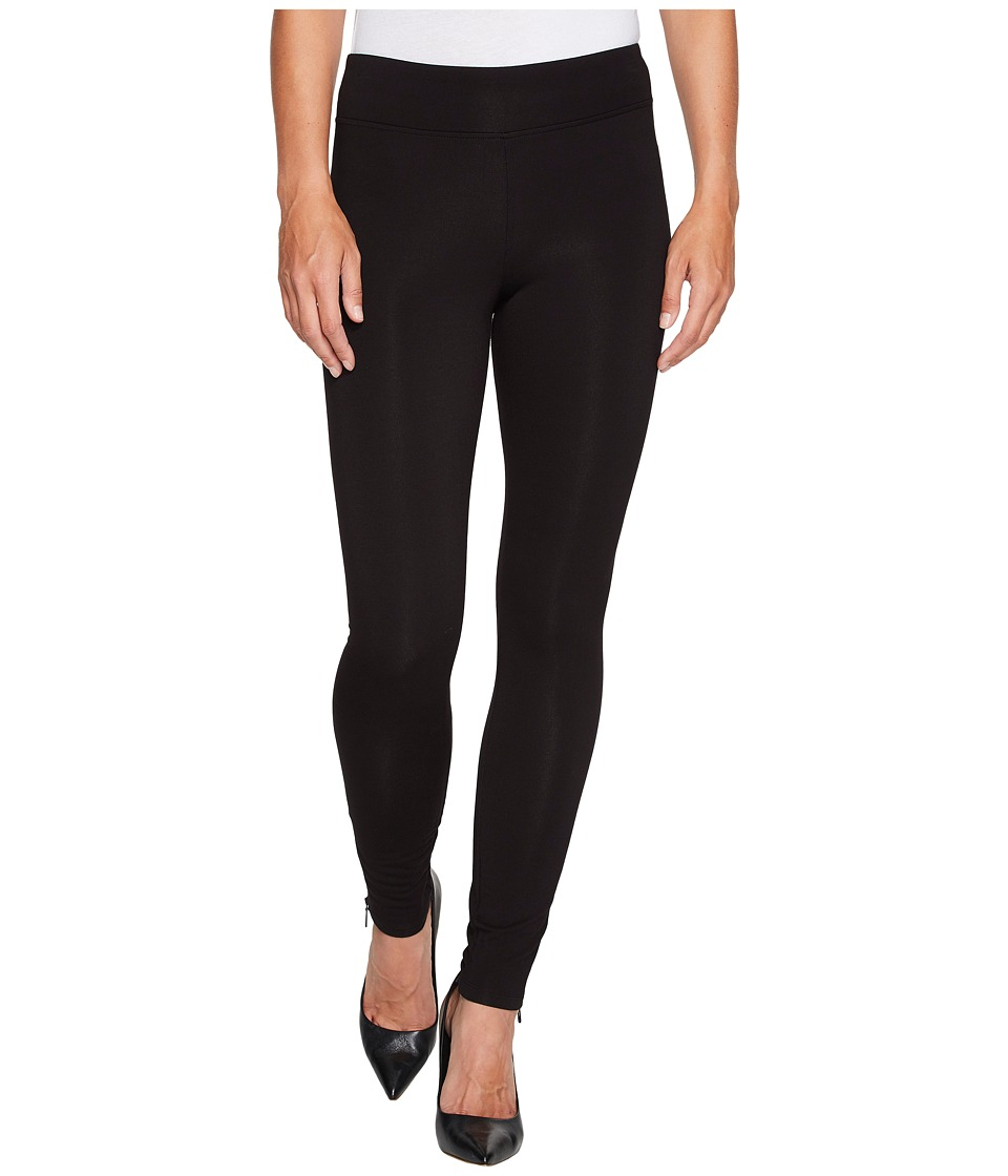 NIC+ZOE Cozy Zipper Leggings (Black Onyx) Women