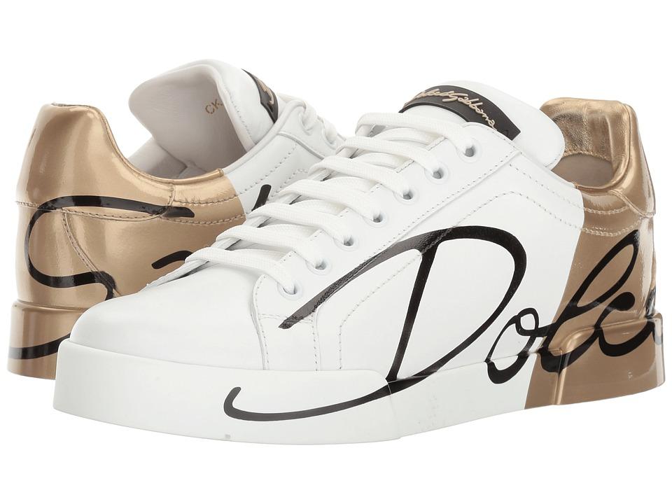 Dolce & Gabbana - CK0124 (White/Gold) Women's Shoes