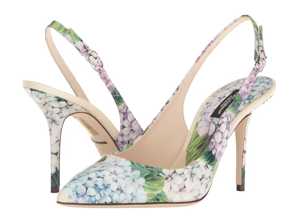 Dolce & Gabbana - CG0181 (Cream Print) High Heels