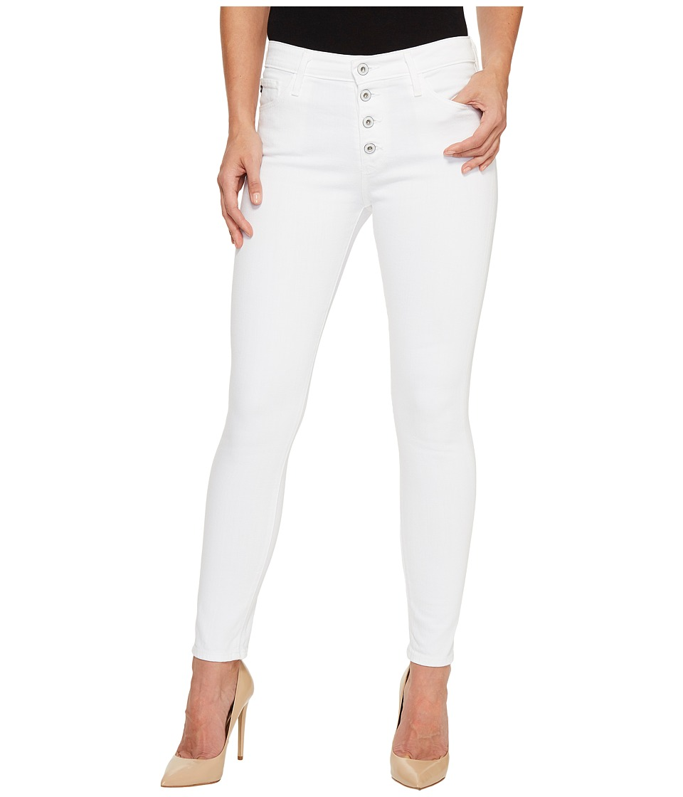 AG Adriano Goldschmied Farrah Skinny Ankle E Button Up in White (White) Women
