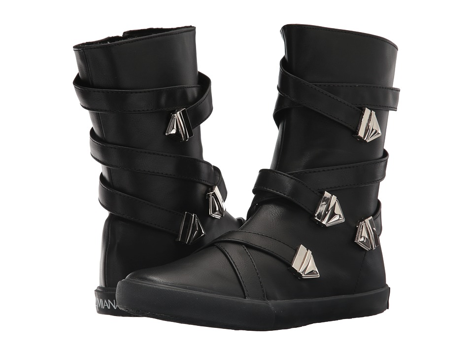 Image of Amiana - 15-A5470 (Toddler/Little Kid/Big Kid/Adult) (Black Casual PU) Girl's Shoes